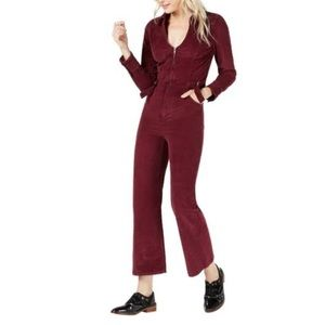 """Free People• """"take me Out"""" cord jumpsuit Mulberry"""